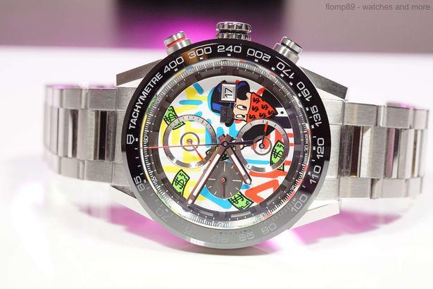 Tag Heuer Carrera Chronograph, limitierte Version von Alec Monopoly, unter anderem bei Juwelieren erhältlich